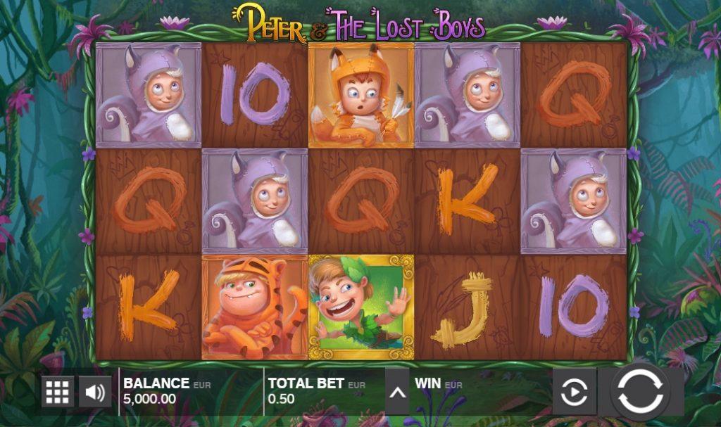 Ігровий автомат Peter and the Lost Boys